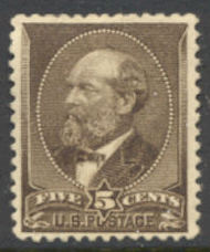 205 5c Garfield, Yellow Brown, Used Average 205usedavg