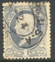 206 1c Franklin, gray blue Used AVG 206usedavg