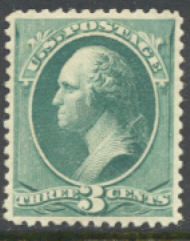 207 3c Washington, green Unused OG F-VF 207og
