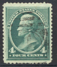 211 4c Jackson, blue green, Used AVG 215uavf