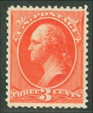 214 3c Washington, Vermilion Mint NH AVG 214nhavg