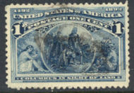 230 1c Columbian, blue Used F-VF 230used