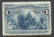 230 1c Columbian Average Mint NH 230nhavg