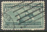 232 3c Columbian, green, Used Average 232uavg