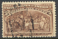 234 5c Columbian, chocolate, Used Average 234uavg