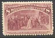 236 8c Columbian, magenta, Average Mint NH 236nhavg