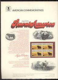 1504 8c Angus Cattle USPS Cat. 24 Commemorative Panel cp024
