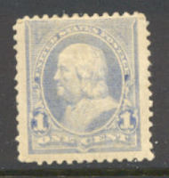 246 1c Franklin, ultramarine, AVG Unused OG 246ogavg