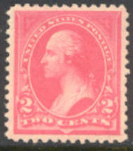 248 2c Washington , pink, Triangle I, AVG Unused 248ogavg