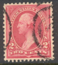 249 2c Washington carmine lake, Triangle I, AVG Used 249usedavg