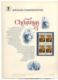 1507 8c Christmas 1973 USPS Cat. 25 Commemorative Panel co025