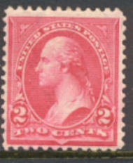 252 2c Washington, Triangle III,  Mint NH Minor Defects 252nhmd