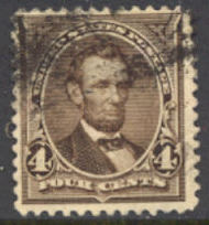 254 4c Lincoln, dark brown, AVG Used 254usedavg