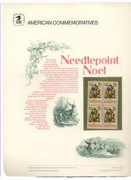 1508 8c Christmas Needlepoint USPS Cat. 26 Commemorative Panel cp026