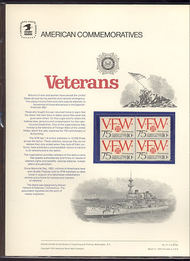 1525 10c VFW 10c USPS Cat. 27 Commemorative Panel cp027