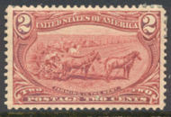 286 2c Trans Mississippi Farming, copper red, F-VF Mint NH 286nh