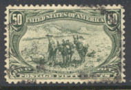 291 50c Trans Mississippi Mining, sage green, F-VF Used 291used
