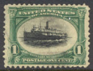 294 1c Pan-American Steamship, green & black Used, Minor Defects 294usedmd