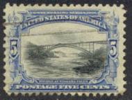 297 5c Pan-American Bridge, ultra & black, AVG Used 297uavg