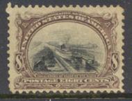298 8c Pan-American Canal, brn vio. & black, Used Minor Defects 298umd