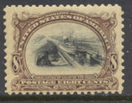 298 8c Pan-American Canal, brn violet & black, Mint NH Minor Defects 298NHmd
