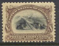298 8c Pan-American Canal, brn vio. & black, Unused Minor Defect 298ogmd