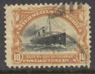 299 10c Pan-American Steamship, brn & black, AVG Used 299uavg