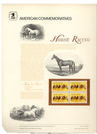 1528 10c Horse Racing USPS Cat. 30 Commemorative Panel cp030