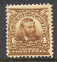 303 4c Grant, brown, AVG Mint NH 303avgnh