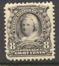 306 8c Martha Washington , violet black, AVG Mint NH 306nhavg