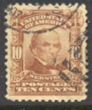 307 10c Webster, pale red brown, AVG Used 307uavg
