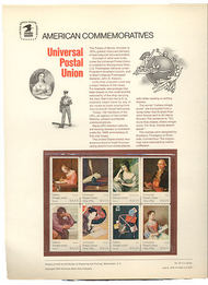 1530-37 10c UPU USPS Cat. 32 Commemorative Panel cp032