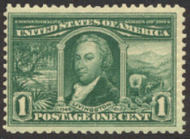 323 1c Louisiana Purchase Livingston, green,  Mint NH Minor Defects 323nhmd
