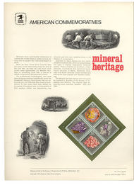 1538-41 10c Mineral Heritage USPS Cat. 33 Commemorative Panel cp033