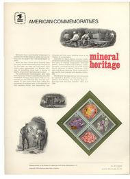 1538-41 10c Mineral Heritage USPS Cat. 33 Commemorative Panel cp033