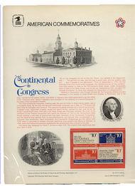 1543-46 10c Continental Congress USPS Cat. 35 USPS Commem Pan cp035