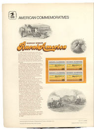 1506 10c Kansas Wheat USPS Cat. 37 Commemorative Panel cp037