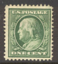 374 1c Franklin,Perf 12, SL Wmk., AVG Unused OG 374ogavg
