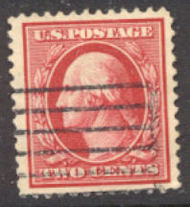 375 2c Washington,  Perf 12, SL Wmk., F-VF Used 375used