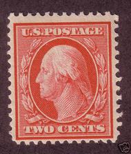 375 2c Washington,  Perf 12, SL Wmk. Unused Minor Defects 375ogmd