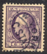 376 3c Washington, Perf 12, SL Wmk.,AVG Used 376uavg
