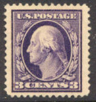 376 3c Washington, Perf 12, SL Wmk, F-VF Mint NH 376nh