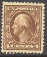 377 4c Washington, Perf 12, SL Wmk AVG Used 377usedavg