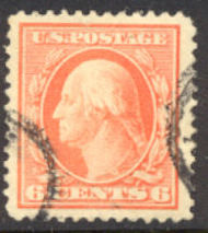 379 6c Washington Perf 12, SL Wmk., AVG Used 379uavg