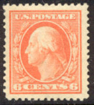 379 6c Washington Perf 12, SL Wmk., AVG Unused 379ogavg