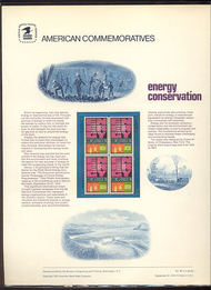1547 10c Energy Conservation Cat. 38 Commemorative Panel cp038