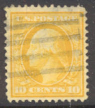 381 10c Washington,Perf 12, SL Wmk. F-VF Used 381used