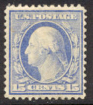 382 15c Washington, Perf 12, SL Wmk AVG Unused OG 382ogavg