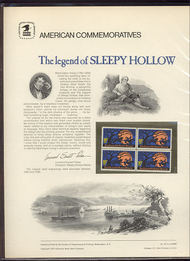 1548 10c Sleepy Hollow USPS Cat. 39 Commemorative Panel cp039