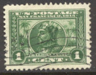 397 1c Pan-Pacific Balboa, green, Perf 12, F-VF Used 397used